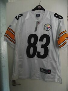 pittsburgh steelers no 83 nfl american football jersey size 48 tags white unworn