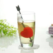 Tea Filter Plastic Strainer Cup Teacup Teapot Infuser Cupid Heart Valentine RS