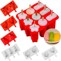 Silicone Ice Cream Mold Frozen Ice Lolly Maker Mould Tray  DIY Juice Popsicle