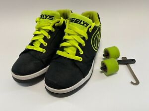 Heelys Propel Skate Shoes Black Green Youth US size 6