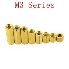 M3 Hex Screw Female Hexagonal Brass PCB Standoffs Spacers Screw M3*(4-25mm)