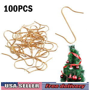 Silver UCSAJI 200PCS Christmas Ornament Hooks Christmas Tree S-Hooks Ornament Hanger Metal Wire Hanging Hook for Christmas Tree Christmas Balls Party Decorations