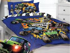 Monster Jam Trucks - Home Range - Twin Bed Quilt Cover Set - only one pillowcase