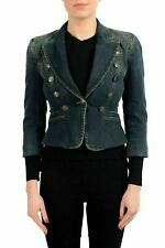 Just Cavalli Denim One Button Women's Basic Jacket US S IT 40