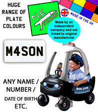N.E.stickers PERSONALISED Number Plates TO FIT old LittleTikes POLICE Cozy Coupe