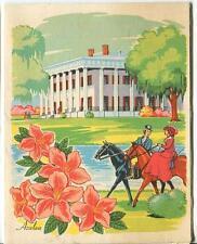 VINTAGE AZALEA FLOWER HORSE PLANTATION SPOON BREAD CORN RECIPE 1 CABIN HOME CARD