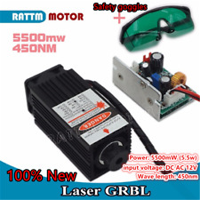 High Power Focusable 5500mW 5.5W 450nm Blue Laser Module Carving Burn Engrave