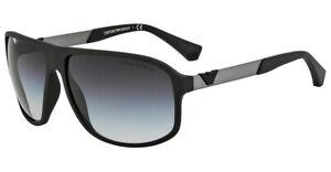 EMPORIO ARMANI Designer Sunglasses EA4029 50638G  BLACK RUBBER, GREY LENS