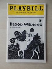 May 1992 - Public Theatre Playbill - Blood Wedding - Omar Carter - Gina Torres