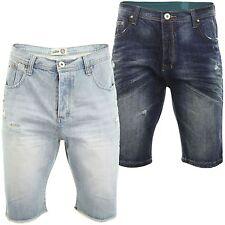 Herren-Cargo-Shorts aus Denim mit regular Länge
