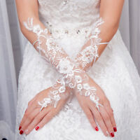 Bridal Women's Fingerless Wrist Lace Bride Wedding Party Gloves Accessories