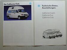 Prospekt Volkswagen VW Bus T4 California Club, ca. 1993, 4 S. + technische Daten