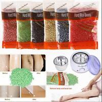 50g /500g Depilatory Hard Wax Beans Pellet Waxing & 500ml Warmer Handle Pot Tool