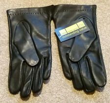 MARKS & SPENCER M&S fleece lined black leather gloves. New. Small.