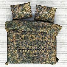 Handmade Doona Quilt Cover Elephant Mandala Duvet Blanket Cover Indian Tradition