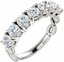 1.75 ct 7 Diamond Wedding Ring 14k Gold Anniversary Band F-G color Si1 clarity
