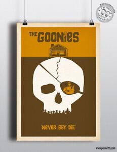 GOONIES - Minimalist Movie Poster, Minimal Film Posteritty Art 80's Print Sloth