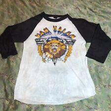 Vtg Van Halen 1982 Live Lion T Shirt Rock Metal Tour Concert Raglan Jersey