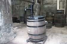 50 gallon oak barrel water butt & working hand pump & brass tap