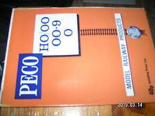 Catalogue PECO 1979 en anglais avec tarif en français