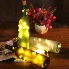 LED Rechargeable USB Bottle Cork Wire Fairy String Light on Wedding Warm White