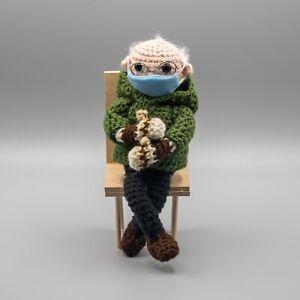 Crochet Bernie Sanders Sweater Mittens Plush