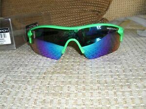 Velochampion Warp Cycling Sunglasses Fluorescent Green