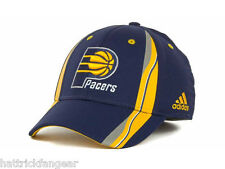ADIDAS TZT58 NBA REV 30 FLEX TEAM LOGO BASKETBALL HAT/CAP- INDIANA PACERS - L/XL