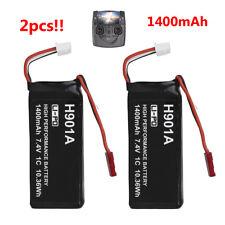 2x 7.4V 1400mAh 1C LI Batteries Fr Hubsan H107D+H502S H501S RC Remote Controller