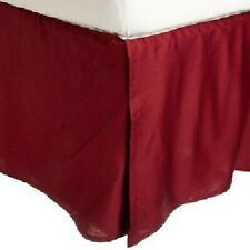 Burgundy Solid - Tailored Bed skirts US 1000 Thread Count 100% Cotton