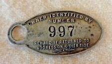Vintage FRANK P. THIERY General Insurance Identification Tag RACINE, WI (TH1182)