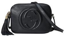 NEW GUCCI SOHO BLACK SMALL LEATHER  DISCO CROSSBODY SHOULDER BAG