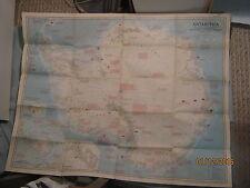 VINTAGE LARGE ANTARCTICA MAP National Geographic September 1957