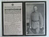 EXTREMELY RARE WWI German Death Card, WEARING IRON CROSS, SHOT IN THE HEAD