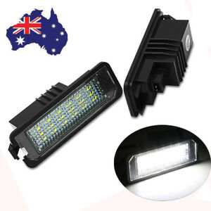 For VW GOLF 4 5 6 7 Polo 6R Rear Led License Number Plate Lights Lamps White