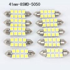 10Pcs 41mm-8smd-5050 White Car Dome Feston LED Light Bulbs DC12V led Universal