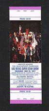 1977 Honoring Muhammad Ali boxing ticket Las Vegas Cassius Clay The Greatest