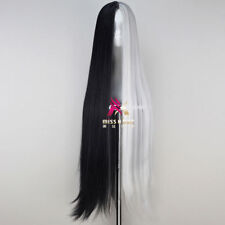 Long Straight Black and White Game Anime Cosplay Wig NN.31