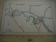 STERLING ALVA CANBUS BANOCKBURN ALLOA RIVER FORTH CALEDONIAN NB RAILWAY MAP 1908