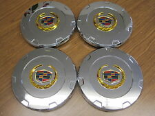 Cadillac Escalade EXT ESV chrome wheel center caps hubcaps gold NEW SET OF FOUR