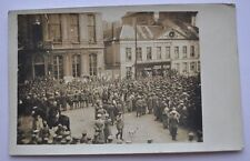 WWI Germany German Army Belgium Roeselare BAZAR Marketplace Gathering Real Photo