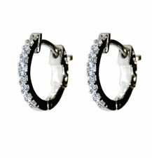 Glitzy Dainty Children & Babies Pave 5A Cubic Zirconia Rhodium Hoop Earrings