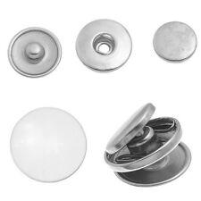 10 Sets Boutons à recouvrir à pression Aluminum Moins brillant 19mm 18mm 15mm
