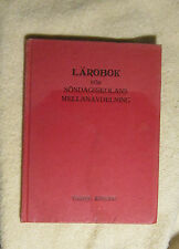 Larobok for Sondagsskolans Mellanavdelning 1924 Swedish Fahlund
