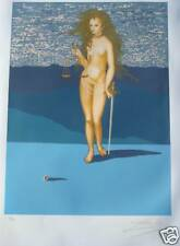 SALVADOR DALI GODDESS OF JUSTICE TAROT CARD 1977 LUBLIN