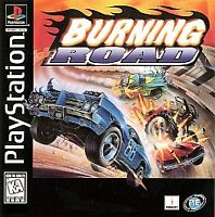 Burning Road PlayStation 1 Ps1 Kids Game Only 42q Car Racing Ps2 2 Compatible