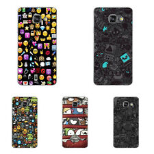 For Samsung Galaxy Note A5 A7 2016 Case Soft TPU Phone Back Cover Emoticon Gifts