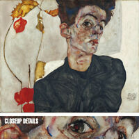 "40W""x32H"" SELF PORTRAIT WITH PHYSALIS by EGON SCHIELE - CHOICES of CANVAS"