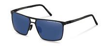Porsche Design Polarised Sunglasses P8610 A V790 Black Dark Blue Mirror