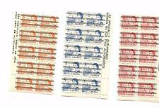 4c, 5c & 8c Centennial PRECANCEL WARNING STRIPS of 10 each DF Canada mint